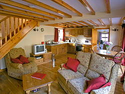 internal of holiday cottage nr betws-y-coed