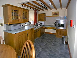 kitchen is adapted for disabled guests with wheelchairs